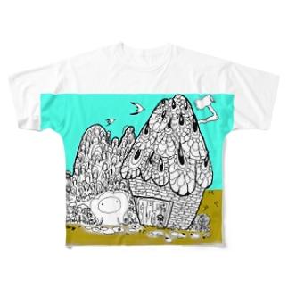 自然保護キャラクター モンパルロ Full graphic T-shirts