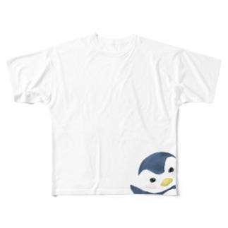 ペンギンぴょこ Full graphic T-shirts