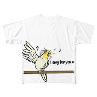 さくらたんぽぽのあなたのために歌うよ。 Full graphic T-shirts