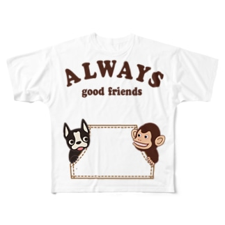 グッドフレンズ Full graphic T-shirts