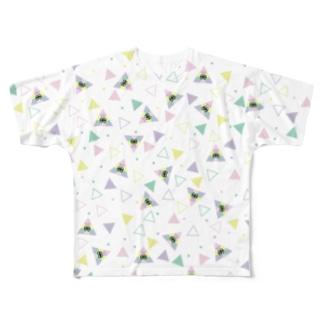 サンカクん Full graphic T-shirts