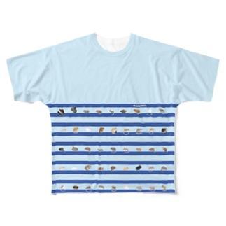 ねずりすSHOPのLOVE RODENTS S / M Full Graphic T-Shirt