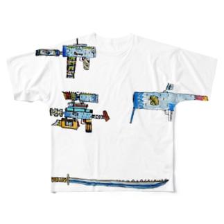 水月 Full graphic T-shirts