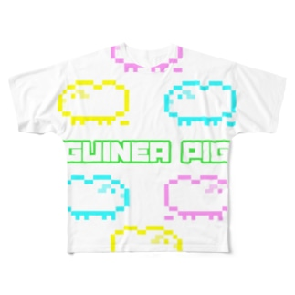 カラフルモルドット Full graphic T-shirts