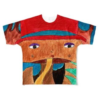 きのこ婦人 フルグラフィックTシャツ