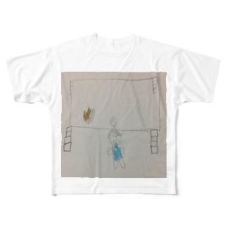 MCぴろしきが宿泊学習でカレーを作った時の様子 Full graphic T-shirts