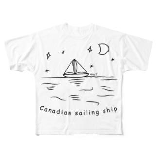 Canadian sailing ship Full graphic T-shirts