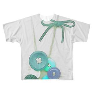 Richi.レトロボタンペンダント Full graphic T-shirts