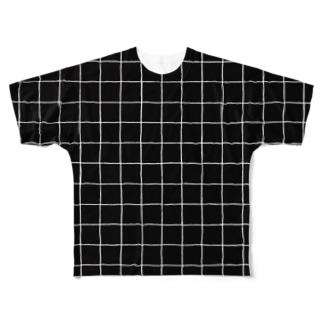チェックT-クロ Full graphic T-shirts