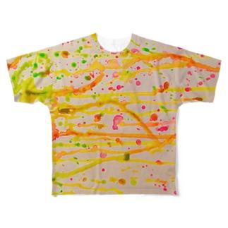 ネオン Full graphic T-shirts