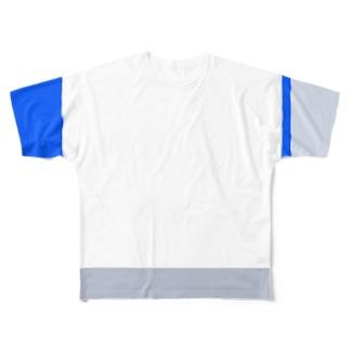 レイヤードバー バイカラー Full graphic T-shirts