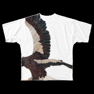 gomaphの空の王者オオワシ フルグラフィックTシャツ