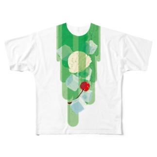 フォーリングクリームソーダ Full graphic T-shirts
