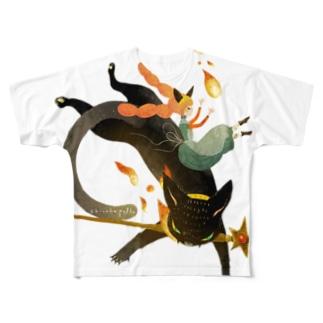 炎の魔法 Full graphic T-shirts