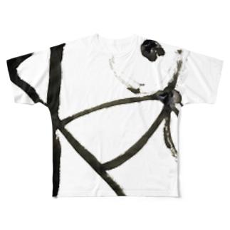 黒線遊び Full graphic T-shirts