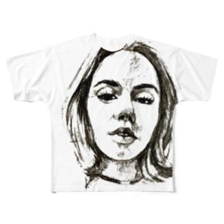 girls talk フルグラフィックTシャツ