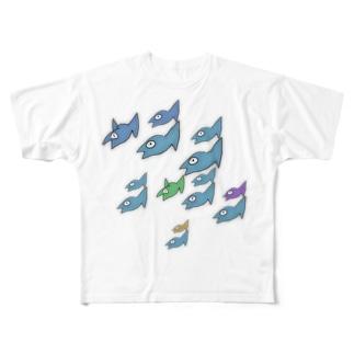 ぎょぎよりうむ。 Full graphic T-shirts