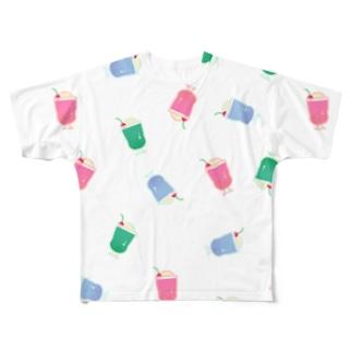 メロンソーダ_フルグラフィックTシャツ Full graphic T-shirts