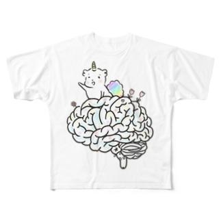 脳味噌 Full graphic T-shirts
