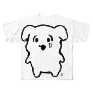 なんで泣いてんのよよT(黒線) Full graphic T-shirts