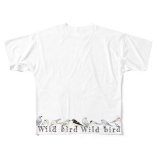 野鳥 All-Over Print T-Shirt