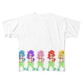 マリンず(大盛) Full graphic T-shirts