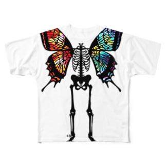 スケリトルバタフライ・ヴィヴィッド Full graphic T-shirts