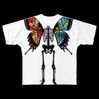 ESCHATOLOGYのスケリトルバタフライ・ヴィヴィッド フルグラフィックTシャツ