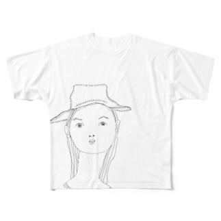 ぼうし Full graphic T-shirts