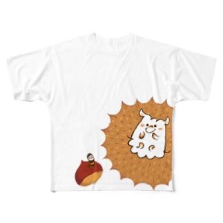 ハリネズミくん(Tシャツ) Full graphic T-shirts