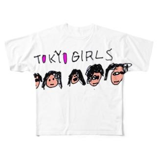 TOKYO GIRLS Full graphic T-shirts
