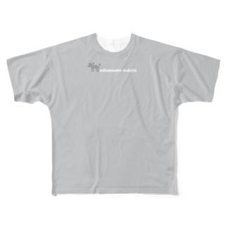 トイプードルのエダマメトイチtwo-tone Full graphic T-shirts