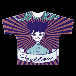 柳沢ユーヲのChill Yellow Full graphic T-shirts