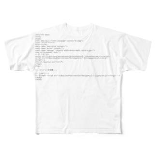 HTML5で作成する時の必要最小限のテンプレート Full graphic T-shirts