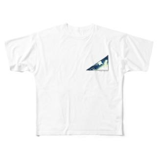 近未来の三角形 Full graphic T-shirts