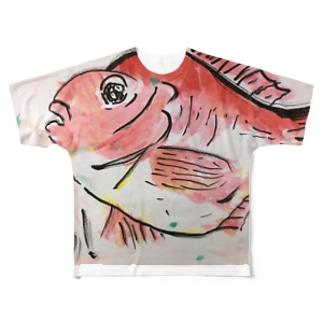 おめでとう(目出鯛!) Full graphic T-shirts