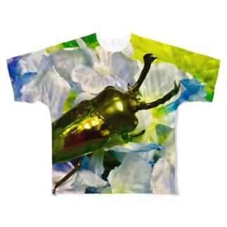 クワガタ ☆ニジイロクワガタ☆ Full graphic T-shirts