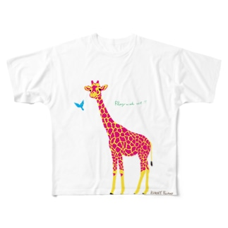 なかよしキリン Full graphic T-shirts