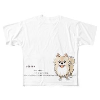 CT08ol ぽめるはポメラニアンA Full graphic T-shirts