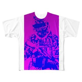 よく見たら兵士 Full graphic T-shirts