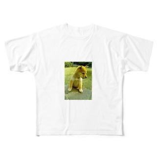 柴犬ライチ① Full graphic T-shirts