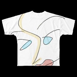 ピザたべたいのらくがき Full graphic T-shirts