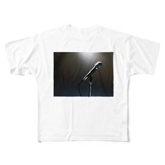 ボーカリストステージ マイク スポットライト Full Graphic T-Shirt