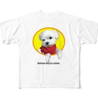 夜明けのマルチーズ2 Full graphic T-shirts