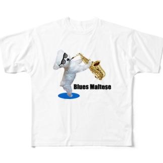 ブルースマルチーズ6 Full graphic T-shirts