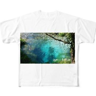 syri i kaltër(シリカルタ) Full graphic T-shirts