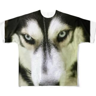 THE ハスキー Full graphic T-shirts