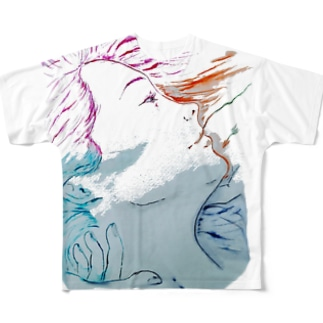 R-hair-scratch Full graphic T-shirts