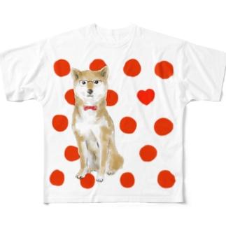 ドキドキしています Full graphic T-shirts