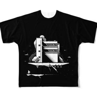 マンション船 フルグラフィックTシャツ